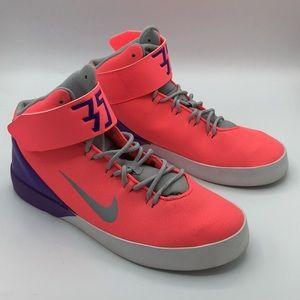 NIKE KD 35 pink purple high top sneakers